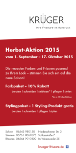 Aktion Krüger Friseure Herbst 2015
