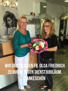 Olga Friedrich Dienstjubiläum
